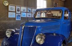 Périgné, Garage de la Poste, juin 2017 (Croctoo) Tags: croctoofr croquis expo watercolor croctoo autos mécanique périgné garage