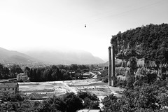 Listless chimneys and flying buses (lorenzomiori) Tags: trento blackandwhite x100f acros landscape