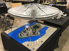 LEGO ID4 Independence Day Brickworld Chicago 2017 - setting up (aaron.fiskum) Tags: lego id4 independence day indepenedence space scifi science fiction city destroyer legoid4 legoindependenceday legofreaks bricks