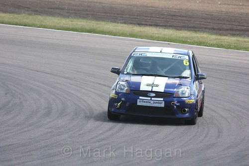 Scott Cansdale in the Fiesta Junior championship at Rockingham, June 2017