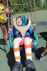 IMG_8219 (varietystl) Tags: swing playground afobraces legbraces afos orthoticbraces summercamp anklefootorthotics