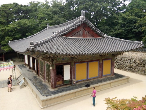 Gyeongju, Bulguksa Temple, Prayer Room from Above