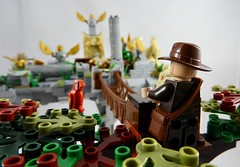 Indiana Jones and the Sanctum of the Golden Angels (Close Up) (justin_m_winn) Tags: lego moc indiana jones sanctum golden angels alternative angle close up