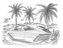Potbellie (rod1691) Tags: bw scifi grey concept custom car retro space hotrod drawing pencil h2 hb original story fantasy funny tale automotive art illistration greyscale moonpies