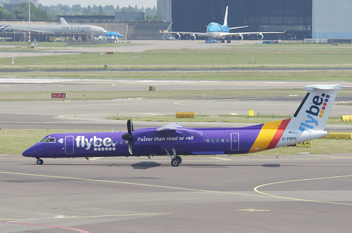 FlyBe DHC-8-400 Dash 8; G-PRPC@AMS;02.06.2017