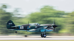 Coimmerative Air Force P-40 (4myrrh1) Tags: maxwell alabama al 2017 military commerative aircraft airplane aviation airshow airplanes airport airforce afb canon 7dii ef100400l propeller prop blur panning