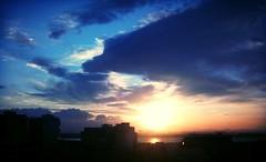 Sunset (Michela288) Tags: cagliari sardinia sardegna italy italia sky cielo land terra color colori colors sea mare nuvole clouds horizons orizzonte landscape paesaggio sunset sun sole tramonto