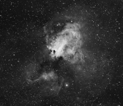 M17 Omega Nebula in Ha (ChrisRyan_Oz) Tags: m17 nebula ha hydrogenalpha astrophotography narrowband