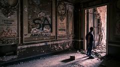 The abandoned building - Bucharest, Romania - Travel photography (Giuseppe Milo (www.pixael.com)) Tags: photographer urban romania abandoned bucharest art travel old woman girl city graffiti streetart explorer explore building bucurești municipiulbucurești ro onsale