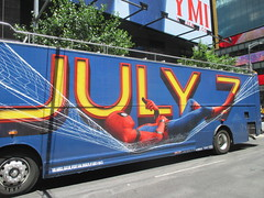 Spider-Man Homecoming Bus Ad 2017 NYC 8276 (Brechtbug) Tags: spiderman homecoming bus ad movie poster billboard 49th street 7th avenue 2017 nyc super hero marvel comic comics character spider man new york city film billboards standee theater theatre district midtown manhattan amazing home coming ads advertising hammock cel phone cell mobile cellphone