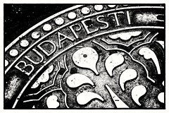 Welcome to Budapest! (Andy J Newman) Tags: buda pest budapest nikon d500 silverefex cover drain manhole monochrome blackandwhite