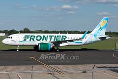 Frontier Airlines Airbus A320-251N - N310FR (AeroPX) Tags: ewingtownship newjersey unitedstates us aeropx airbusa320 airbusa320neo caryliao ewing frontierairlines kttn n310fr nj sunnythecollaredlizard ttn trentonmercercountyairport