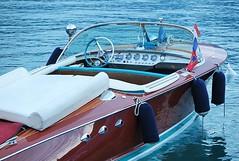 Et si possible un Riva ! (nathaliedunaigre) Tags: boat bateau horsbord riva design excellence couleurs colors coloré colored lacdannecy lakeofannecy