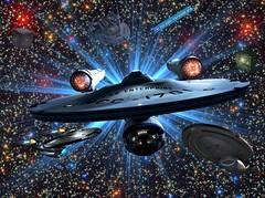 Wallpaper Star Trek Enterprise Voyager Borg and anomaly 7 6 2017 (Monte Mendoza) Tags: startrek startrekvoyager voyager space warp borg stars