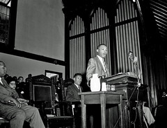 King says people 'tired of the iron foot of oppression' - 1956 (washington_area_spark) Tags: rev martin luther king jr howard university andrew rankin memorial chapel speech 1956 montgomery bus boycott african american black civil rights segregation integration jim crow white supremacy racism washington dc there comes time when people get tired being trampled by iron foot oppression alabama