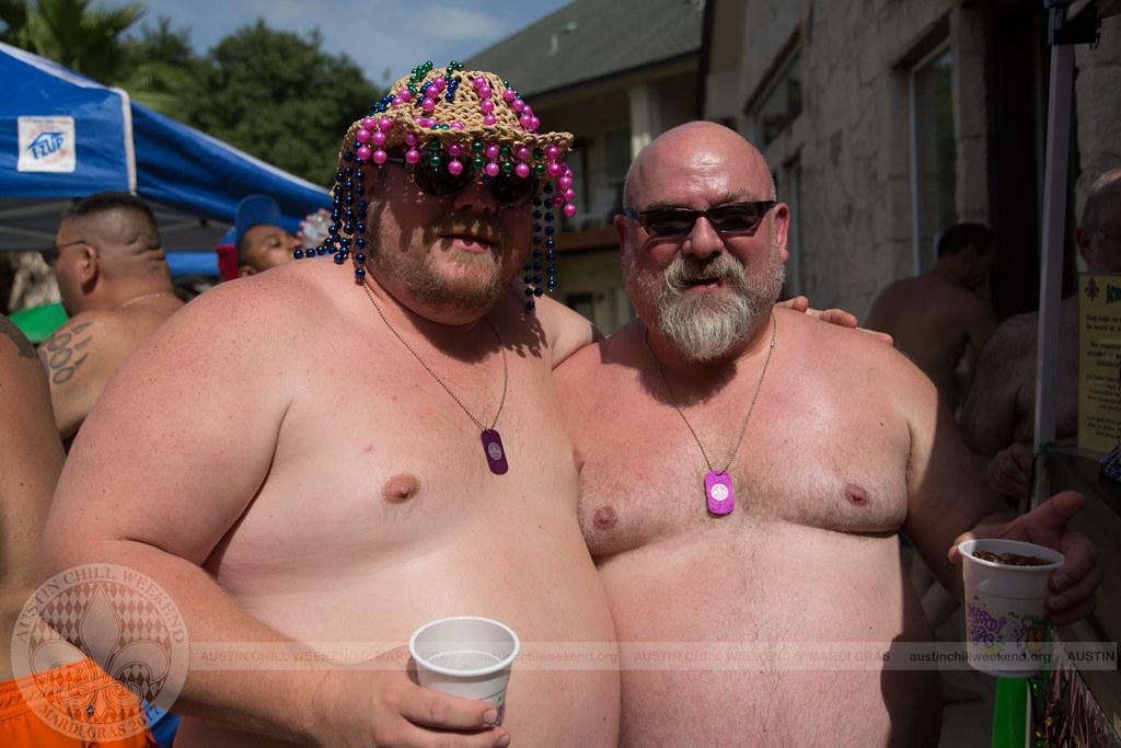 Gay chubby bear pool party