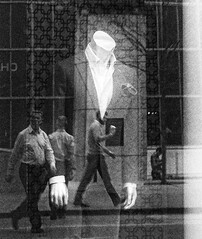 Business Attire (Demmer S) Tags: window reflection street streetphotography pedestrian shootthestreet streetshots person urban city downtown reflected people peoplewatching reflect reflecting windows urbanexploration citystreets walking reflections storedisplay mannequin suit suits formal collared shirt jackets informal casual formality hands jacket shirts grid pattern dresscode storewindow retail texture lines grain visual marketing advertising display merchandise shopwindow fashion windowdisplay displaywindow clothing shop business attire ceo funwithtags businessman men work leadership management professional man working chicagoland loop bw blackandwhite blackwhite monochrome