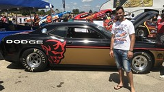Leah Pritchaet, Dodge,  2017, NHRA, Nationals, at, Route 66, drag way, 7/8/2017, with my son, Freddie, and my son in law, Dimitri, (Picture Proof Autographs) Tags: leahpritchaet dodge 2017 nhra nationals route66 dragway 782017 withmyson freddie andmysoninlaw dimitri nhranationals2017route66dragstripdragwaydragsterddragsterstopfuelfunnycarprostockhotwheelstommcewinnmongoosepapajohnspapajohnspizza