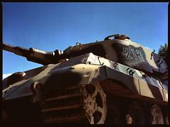 Last Stand (Dirk Bruyns) Tags: sdkfz 182 kingtiger königstiger panzer tank mamiya m645 sekor 80mm lagleize belgium belgië belgique belgien battleofthebulge wachtamrhein 1944 1945 peiper ardennes ardenne canoscan 8800f homedeveloped 645