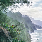The Kalalau Trail. Nā Pali Coast, Kauai.