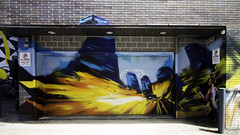 Here, I park my car here. (aerojad) Tags: eos canon 80d dslr 2017 city urban art artinpublicplaces streetart publicart mural murals graffiti vacation travel wanderlust graffitialley toronto canada vibrant colorful