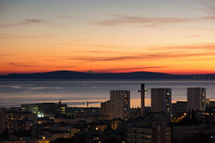 Magic starts when sun sets down... (LukaBoban) Tags: split bluehour sea seascape sunset colors magic port islands city croatia canon powershot g15