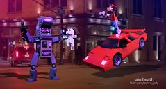 Kung Fury (Ochre Jelly) Tags: lego moc afol kung fury triceracop barbariana hitler car robot mecha arcade
