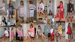 Collage (janegeetgirl2) Tags: transvestite crossdresser crossdressing tgirl tv ts stockings heels garters nylons glamour petticoat white red satin dress pencil skirt office secretary stilettos fully fashioned high vintage seams slips see through sheer pvc mini short black contrast suspenders jane gee collage