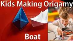5 Years Old Kids Making Boat With Paper-Origmay By 5Years OLd Baby Creating Paper-Crafts Live (globeofbusiness) Tags: 5 years old kids making boat with paperorigmay by 5years baby creating papercrafts live