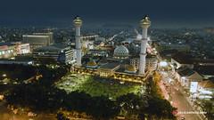 Mesjid Agung Kota Bandung Aerial Nightscape (Kaufik Anril) Tags: nightscape aerial dji djimavicpro djimavic mavic foto udara bandung mesjid agung mesjidagungbandung cityscape indonesia aerialphotographyindonesia helicamindo