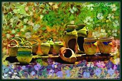 Vasi di terracotta - Giugno-2017 (agostinodascoli) Tags: art digitalart digitalpainting vasi colore fullcolor creative impressionismo cianciana sicilia nikon nikkor agostinodascoli photoshop photopainting