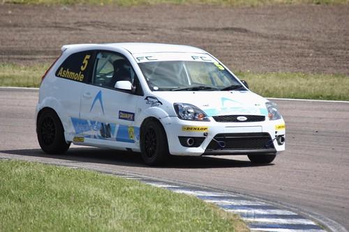Richard Ashmole in the Fiesta championship Class C at Rockingham, June 2017