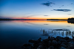 Summer midnight (Arttu Uusitalo) Tags: rocks sea seaside seashore finland ostrobothnia kaskinen kaskö summer night nightscape dusk twilight landscape calm sunset canon eo eos 5d mkiv 24105
