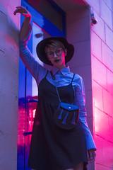 MASHA (aleksandra.dylkova) Tags: girl garden glasses nature night neon underground industrial pank model modeling makeup modeltest mcdonalds portreits photo pink photographer photoshoot kharkiv ukraine cake smoke