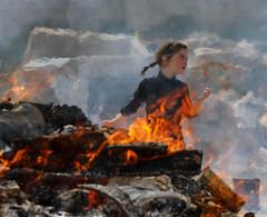 Lord of the Flies (ybiberman) Tags: israel jerusalem meahshearim girl braids portrait fire candid streetphotography aleppo syria