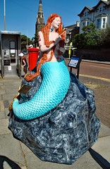 The Black Rock Mermaids - No.2 The Inked Siren of Black Rock. (Kay Bea Chisholm) Tags: statue railwaystation athertonst 2017 wallasey newbrighton mermaidtrail blackrockmermaids theinkedsirenofblackrock