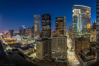 Downtown Houston from the Magnolia Hotel Roof