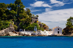 Island In The Blue (Alfred Grupstra) Tags: sea summer blue vacations island water nature coastline travel outdoors architecture house tourism sky beach scenics traveldestinations idyllic mediterraneansea