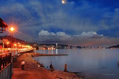 油車口 (Lavender0302) Tags: 夕陽 雲 大屯山 紅樹林 油車口 沙崙 淡水 新北市 台灣 taiwan sunset cloud