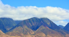 MAUI MOUNTAIN BACKDROP...AS SEEN FROM THE FERRY BOAT TO LANAI. (vermillion$baby) Tags: maui2016 ferry hawaii lanai landscape mountain flickr