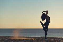 (dimitryroulland) Tags: nikon d600 dimitryroulland tamron sand sea seashore sun sunset sunlight light natural atlantique dance dancer performer art sport gym gymnast gymnastics