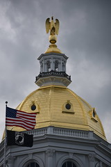 New Hampshire State capitol (D70) Tags: new hampshire state capitol the house located concord 107 north main street is building houses general court governor executive council was constructed block framed by park named honor architect stuart james east south west a statue huge goldpainted wooden war eagle looking left raised 1818 in 1957 it replaced with an elementproof peace right original given historical society