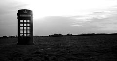 CALL (kchocachorro) Tags: photography phothographer phothoart landscape horizon horizonte blackandwithe blancoynegro bnw telephone cabine macro toy creative