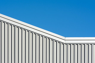Grey building with lines