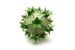 Centaurea Jacea (Akizhi) Tags: origami modular kusudama paper art crafts folding