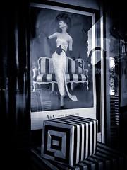 My Fair Lady (TuthFaree) Tags: iphone elements storefront window art bw blackwhite black white fashion contrast tone slidersunday hss