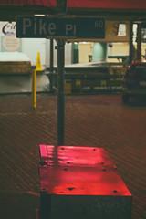 Pike Place Pinks (matthewkaz) Tags: pikeplacemarket pikeplace market sign neonsign neonsigns signs pikepl streetsign mailboxes night dark reflection reflections city urban downtown seattle 60 2017 subaru car