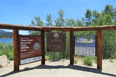 Welcome Sign (Patricia Henschen) Tags: clearcreek reservoir lake statewildlifearea sanisabelnationalforest buenavista colorado mountain mountains sawatch range coloradotrail clearcreekcanyon canyon road sign interpretive swa coloradoparkswildlife