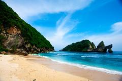 Life's a Beach (sumehrgwalani) Tags: outdoor sea beach sky waters cliffs secluded