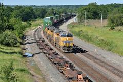 F ZCIG4 1 at Baring Mo. (Machme92) Tags: unionpacifc up trains railroad railfanning railroads railfans rails ge gevo american america stacks nikon railroading railfan atsf tracks